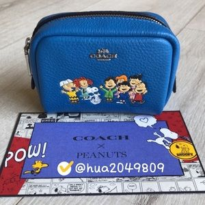 Coach Mini Cosmetic Case With Snoopy & Friends